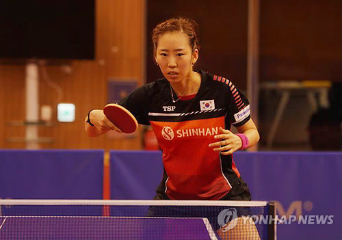 South Korean table tennis player Yang Ha-eun practices at the Jincheon National Training Center in Jincheon, 90 kilometers south of Seoul, on Aug. 8, 2018, in preparation for the Aug. 18-Sept. 2 Asian Games in Jakarta and Palembang, Indonesia. (Yonhap)