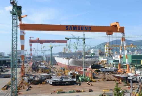 Samsung Heavy's shipyard in Geojedo, South Gyeongsang Province (Yonhap)