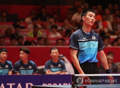 (Asian Games) S. Korea takes team silver in men's table tennis