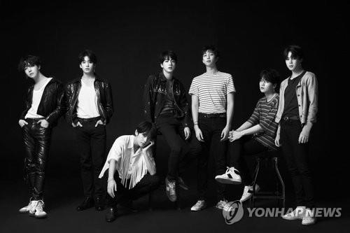 K-pop sensation BTS in this photo provided by Big Hit Entertainment (Yonhap)