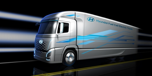 A rendering of Hyundai's hydrogen fuel cell truck to be launched next year (Yonhap)