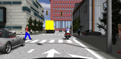 This Hyundai Mobis provided image shows a 3-D game image that can be used in the development of self-driving car programs. (Yonhap)
