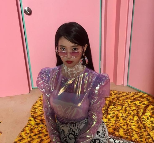 This image of IU was captured from her Instagram account. (Yonhap)