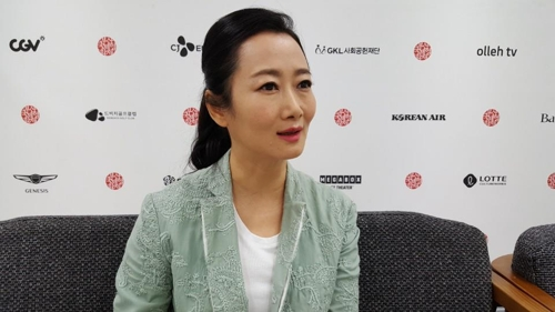 """Chinese actress Zhao Tao of """"Ash is Purest White"""" poses during an interview with Yonhap News Agency during the 23rd Busan International Film Festival in Busan on Oct. 5, 2018. (Yonhap)"""
