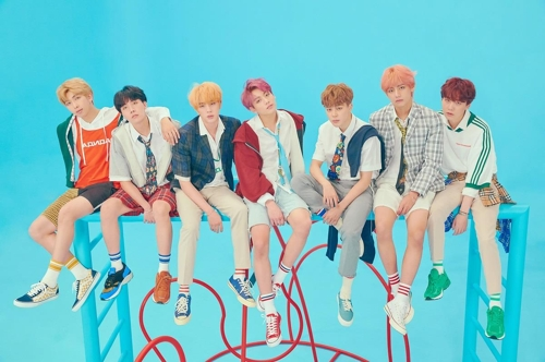 This photo provided by Big Hit Entertainment shows BTS. (Yonhap)