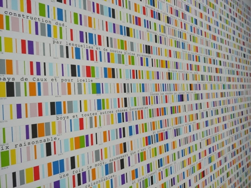 """""""The secret code of Colours on the Beach"""" on display at Platform-L Contemporary Art Center in southern Seoul on Oct. 11, 2018 (Yonhap)"""