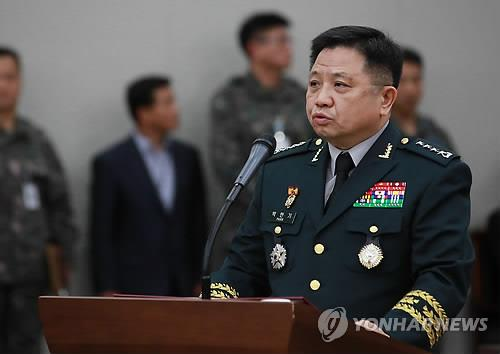 Gen. Park Han-ki, the chairman of the Joint Chiefs of Staff (JCS), speaks during a parliamentary audit at the JCS headquarters in Seoul on Oct. 12, 2018. (Yonhap)