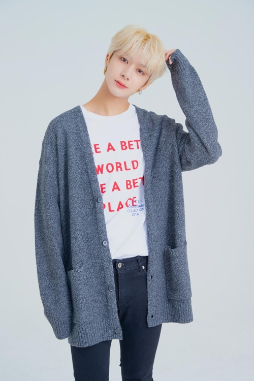 This photo of Hyungwon was provided by Starship Entertainment. (Yonhap)