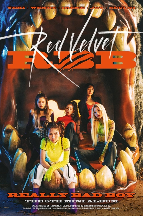 """This image provided by SM Entertainment shows an English-language promotional poster for Red Velvet's fifth EP album, titled """"RBB,"""" set to be released on Nov. 30. (Yonhap)"""