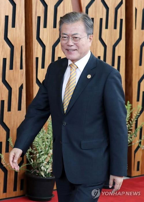 Moon calls for efforts to strengthen multilateral trade