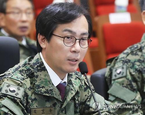 Kim Young-woo, député du parti Saenuri à la tête de la commission de la défense au Parlement, le 10 octobre 2016.