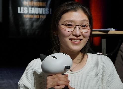 L'auteure du manhwa «Mauvaise filles», Ancco, porte le Prix Révélation au 44e Festival de la bande dessinée d'Angoulême (KOMACON=Yonhap)