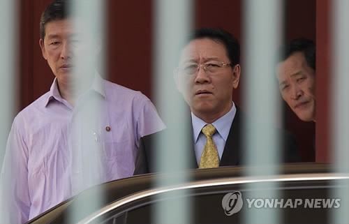 L'ambassadeur de Corée du Nord en Malaisie, Kang Chol, le 6 mars 2017 avant son expulsion (AP=Yonhap)