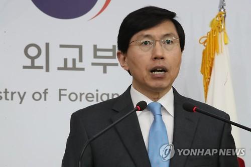 Le porte-parole du ministère des Affaires étrangères Cho June-hyuck (Photo d'archives Yonhap)