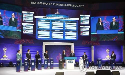Le tirage au sort de la Coupe du Monde U-20 de la Fifa.