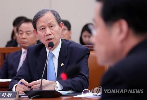 Le vice-ministre des Affaires étrangères Ahn Chong-ghee ce mercredi 15 mars 2017.