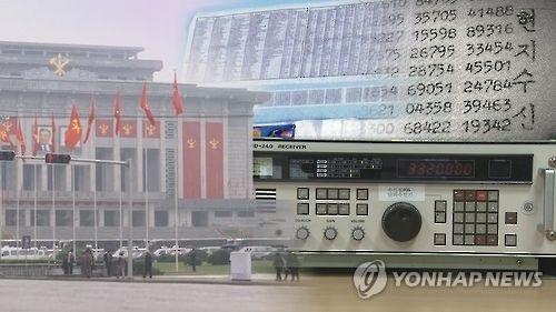 Photomontage des chiffres aléatoires émis par la Corée du Nord. (YonhapNews TV)