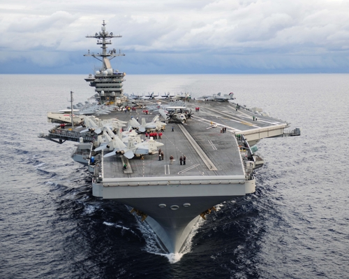 Le porte-avions à propulsion nucléaire des Etats-Unis USS Carl Vinson (Photo d'archives)