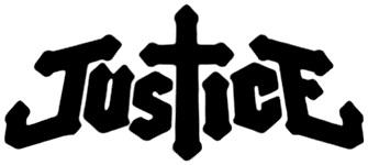 Le logo du duo français de musique rock électronique Justice (Capture d'image du site officiel de Justice)