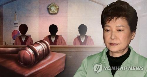 Photomontage de l'ex-présidente Park Geun-hye