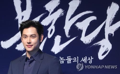 Le protagoniste du film «The Merciless» ou «Bulhandang» lors d'une conférence de presse tenue à Séoul le 19 avril 2017 (Photo d'archives)