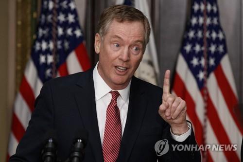 Le représentant américain au commerce, Robert Lighthizer (AP=Yonhap)
