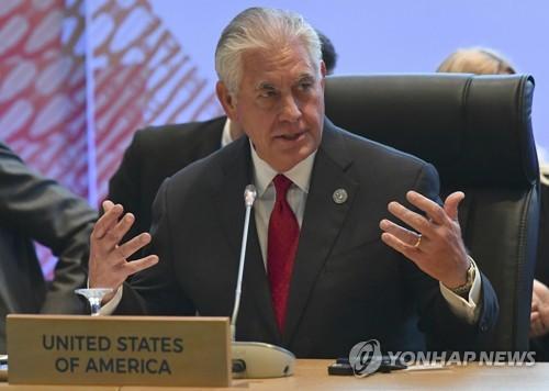 Le secrétaire d'Etat américain Rex Tillerson (AP=Yonhap)