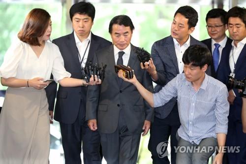Rhee Jang-han (au centre) le 2 août 2017.