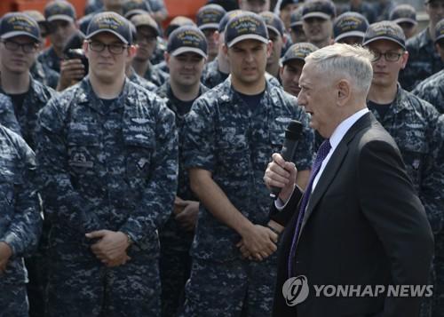 Le secrétaire à la Défense, James Mattis (AFP=Yonhap)