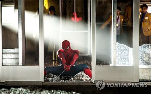 Une scène du film américain «Spider-Man : Homecoming» ⓒ Sony Pictures