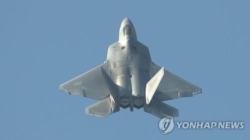 Cette photo d'archive montre un avion de combat furtif américain Raptor F-22.