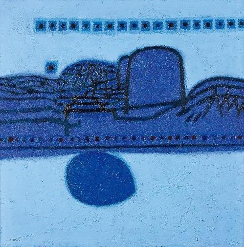 Cette image fournie par Seoul Auction montre «Morning Star» de Kim Whanki.