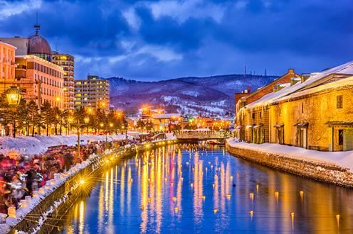 La ville japonaise de Sapporo en hiver. (source: Skyscanner)