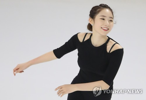La patineuse artistique Choi Da-bin à la patinoire Mokdong à Séoul ce jeudi 30 novembre 2017.