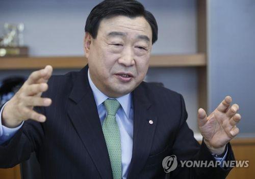 Lee Hee-beom, président du comité d'organisation des Jeux olympiques et paralympiques de PyeongChang 2018. (Photo d'archives Yonhap)