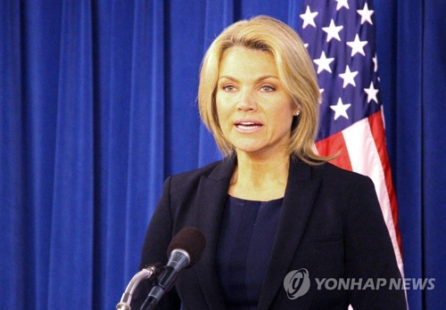 Heather Nauert, la porte-parole du département d'Etat américain. (Photo d'archives Yonhap)