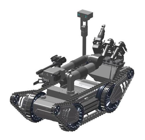 Image d'un robot de neutralisation des bombes fournie par la DAPA.