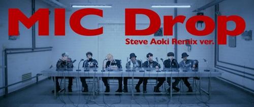 La version remix du single «Mic Drop» du groupe de K-pop Bangtan Boys (BTS) © Big Hit Entertainment