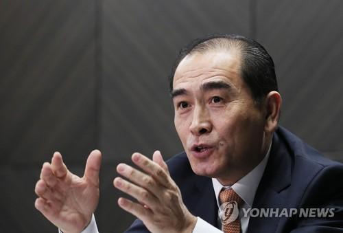 Thae Yong-ho, un ancien diplomate nord-coréen réfugié en Corée du Sud, accorde une interview à l'agence de presse Yonhap le 2 janvier 2018.