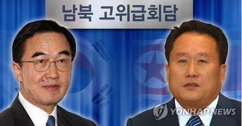 Le ministre sud-coréen de l'Unification, Cho Myoung-gyon (à gauche), et le président du Comité pour la réunification pacifique de la patrie de la Corée du Nord, Ri Son-gwon, seront les négociateurs en chef du dialogue intercoréen de haut niveau. (Photomontage Yonhap)