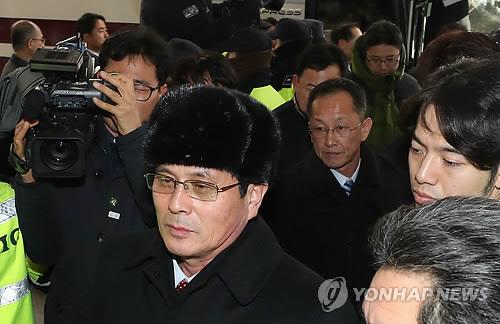 Le haut responsable du ministère nord-coréen du Sport Yun Yong-bok à l'hôtel Inje Speedium ce jeudi 25 janvier 2018.