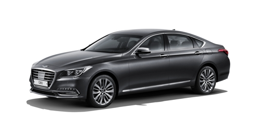 La berline diesel G80 de la gamme Genesis. © Hyundai Motor Co.