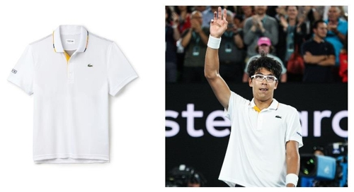 Evénement promotionnel de Lacoste, le sponsor officiel du joueur de tennis sud-coréen Chung Hyeon. © Shinsegae Mall