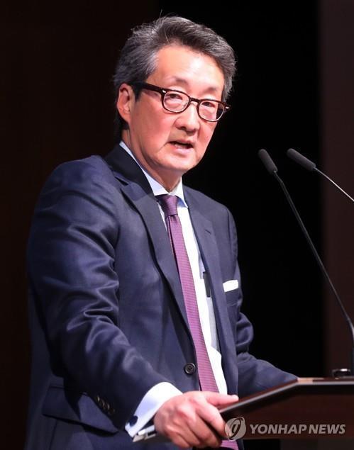 Victor Cha prononce un discours à Séoul le 18 janvier 2017.