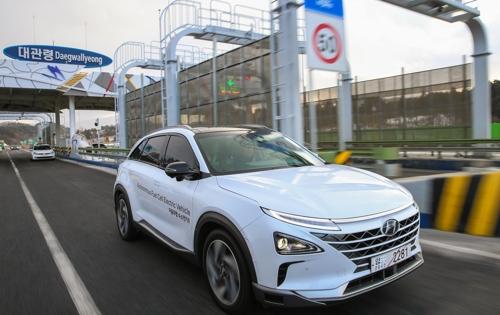 Le Hyundai NEXO, véhicule électrique à pile à combustible à hydrogène.