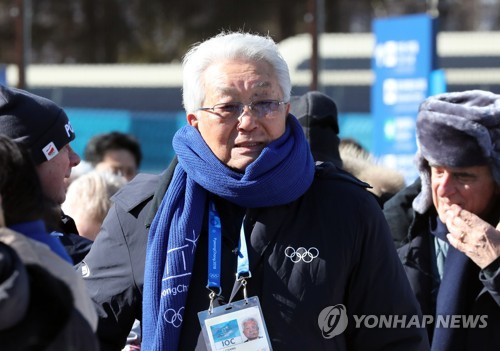 Chang Ung pendant la cérémonie d'inauguration du mur de la trêve olympique ce lundi 5 février 2018 au Village olympique de PyeongChang.