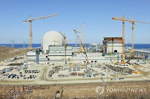 Le site de construction du réacteur Shin-Hanul-2 à Uljin, à 330 kilomètres au sud-est de Séoul.