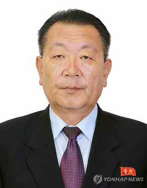 Choe Hwi, le président de la Commission d'Etat pour la conduite des sports de la Corée du Nord.