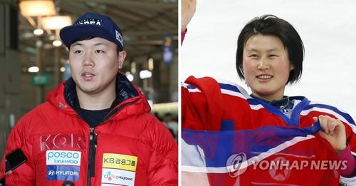 Won Yun-jong et Hwang Chung-gum. (Photo d'archives Yonhap)