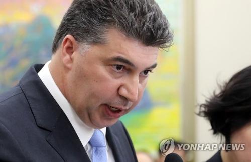 Président de GM Korea, Kaher Kazem. (Photo d'archives Yonhap)